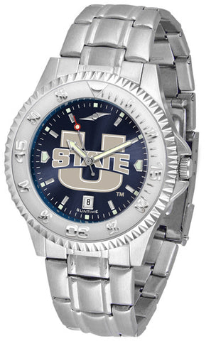 Mens Utah State University Aggies - Competitor Steel AnoChrome Watch