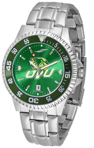 Mens Utah Valley Wolverines - Competitor Steel AnoChrome Watch - Color Bezel