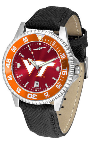 Virginia Tech Hokies Men Competitor Watch With AnoChome Dial, Color Bezel