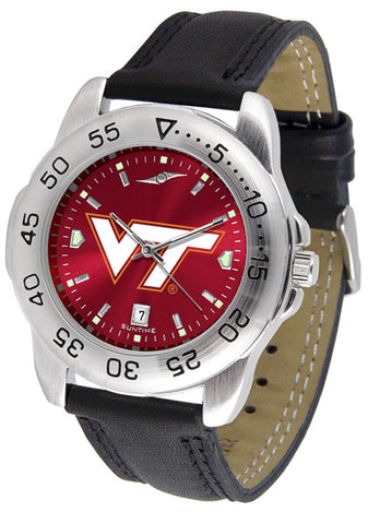 Virginia Tech Hokies Men Sport Watch With Leather Band & AnoChrome Dial