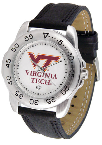 Virginia Tech Hokies Men Sport Watch With Leather Band
