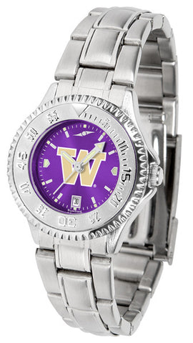 Ladies Washington Huskies - Competitor Steel AnoChrome Watch