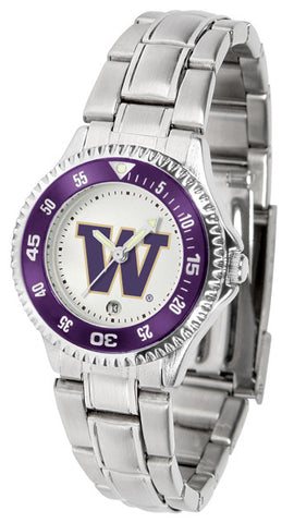 Ladies Washington Huskies - Competitor Steel Watch