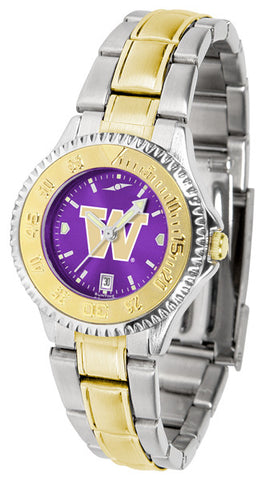 Ladies Washington Huskies - Competitor Two Tone AnoChrome Watch