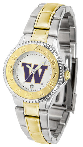 Ladies Washington Huskies - Competitor Two Tone Watch