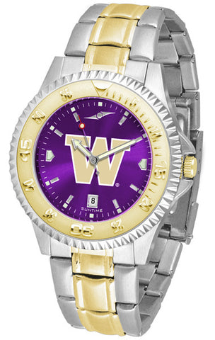 Mens Washington Huskies - Competitor Two Tone AnoChrome Watch
