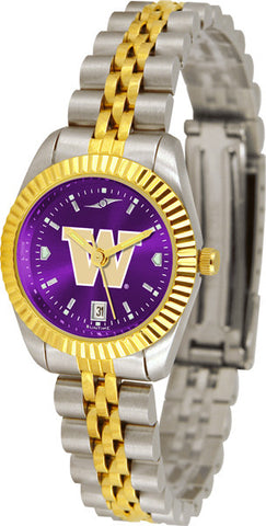 Ladies Washington Huskies - Executive AnoChrome Watch