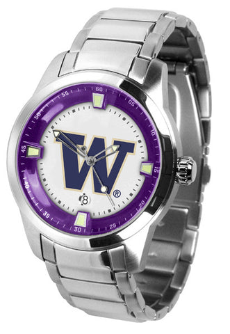 Mens Washington Huskies - Titan Steel Watch