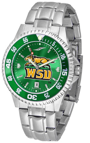 Mens Wright State Raiders - Competitor Steel AnoChrome Watch - Color Bezel