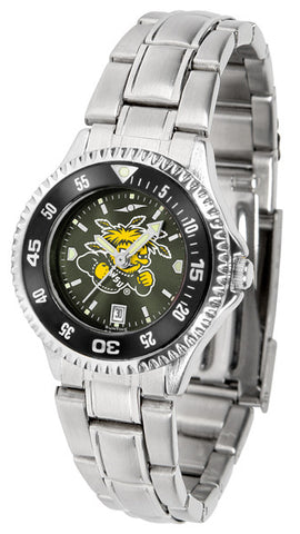 Ladies Wichita State Shockers - Competitor Steel AnoChrome Watch - Color Bezel