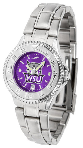 Ladies Weber State Wildcats - Competitor Steel AnoChrome Watch