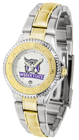 Ladies Weber State Wildcats - Competitor Two Tone Watch