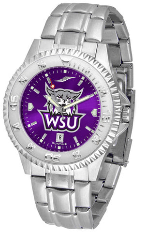 Mens Weber State Wildcats - Competitor Steel AnoChrome Watch