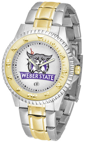 Mens Weber State Wildcats - Competitor Two Tone Watch