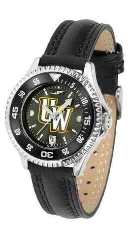 Ladies Wyoming Cowboys - Competitor AnoChrome Watch - Color Bezel