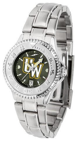 Ladies Wyoming Cowboys - Competitor Steel AnoChrome Watch