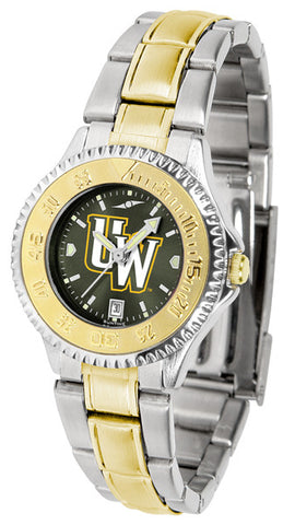 Ladies Wyoming Cowboys - Competitor Two Tone AnoChrome Watch