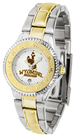 Ladies Wyoming Cowboys - Competitor Two Tone Watch