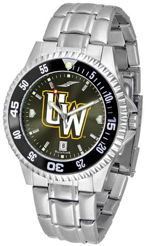 Mens Wyoming Cowboys - Competitor Steel AnoChrome Watch - Color Bezel