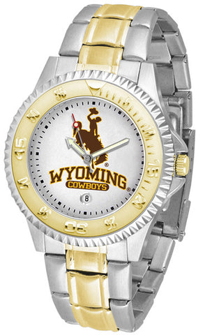 Mens Wyoming Cowboys - Competitor Two Tone Watch