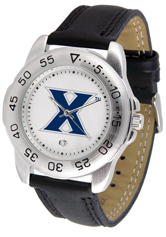 Xavier Musketeers Men Sport Watch With Leather Band