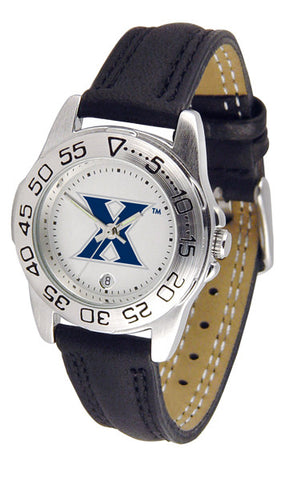 Xavier Musketeers Ladies Sport Watch With Leather Band
