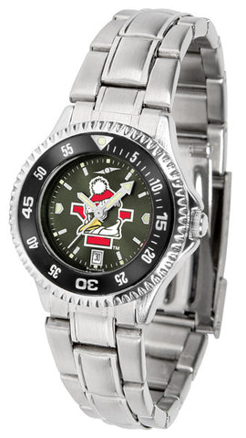 Ladies Youngstown State Penguins - Competitor Steel AnoChrome Watch - Color Bezel
