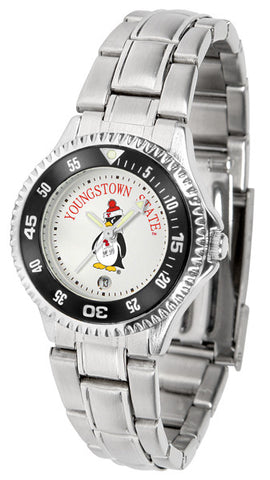 Ladies Youngstown State Penguins - Competitor Steel Watch
