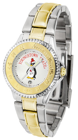 Ladies Youngstown State Penguins - Competitor Two Tone Watch