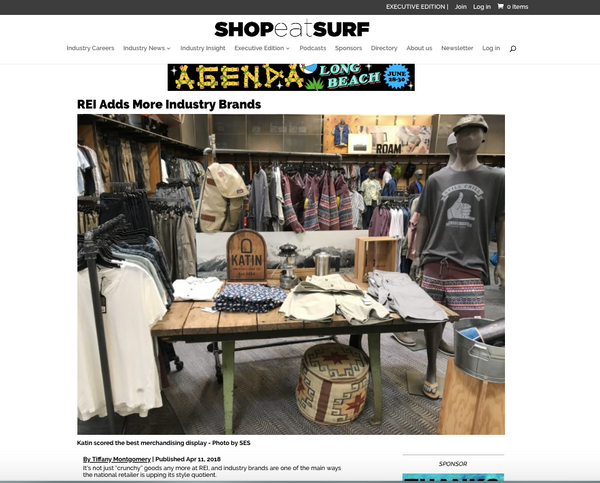 PRESS: Shop-Eat-Surf Features Katin Retail Display at REI