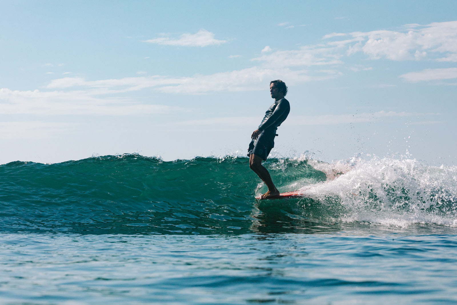 Katin surfer Saxon Wilson demonstrates the art of noseriding with ease at Malibu, 2020. Photo by Edin Markulin.