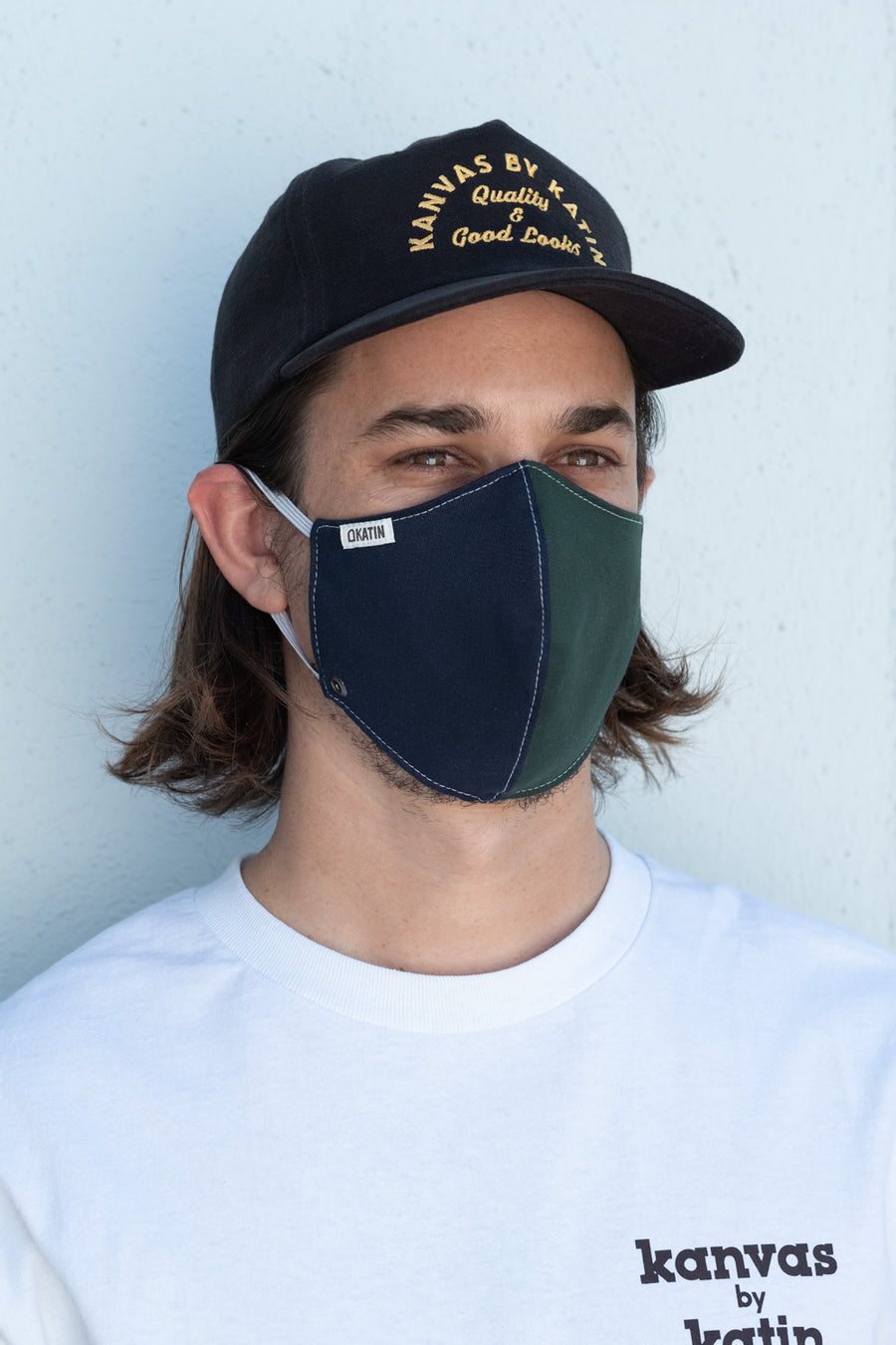 Katin Face Mask - Navy/Green