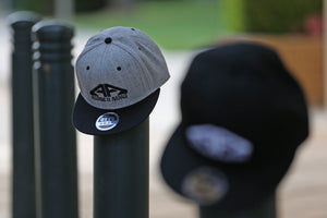Heather Grey & Black (AllA Snapback)
