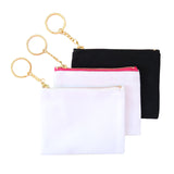 Blank Zip Card Key Fob - White/Pink 12pk