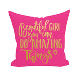 Beautiful Girl Pillow Cover