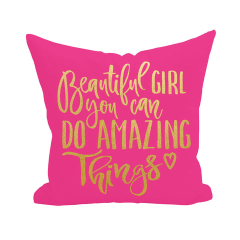 Beautiful Girl Pillow Cover 3pk