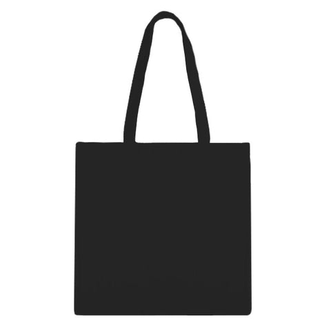 Blank Zip Tote Bag - Black/Black 12pk