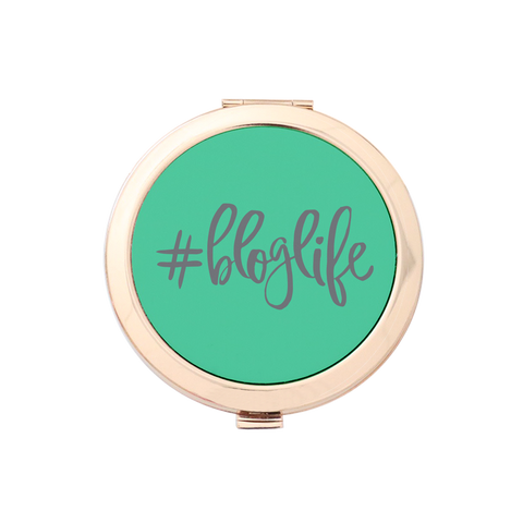 #BLOGLIFE Gold Compact Mirror Holder 1pk