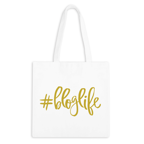 #BLOGLIFE Zippered Tote Bag - 1pk