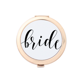 Bride Fancy Script Gold Compact Mirror Holder 1pk