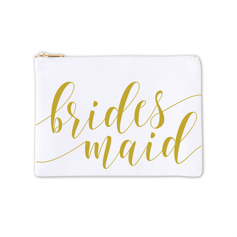 Cosmetic Bag - Bridesmaid Fancy Script 3pk