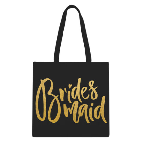 Bridesmaid Large Script Tote Bag