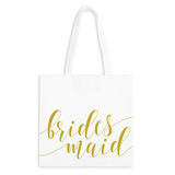 Bridesmaid Fancy Script Zippered Tote Bag - 1pk