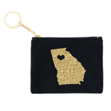 Glitter Gold Stateside Credit Card Key Fob 3pk