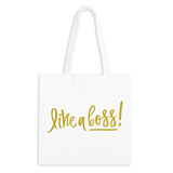 Like A Boss! Zippered Tote Bag - 1pk