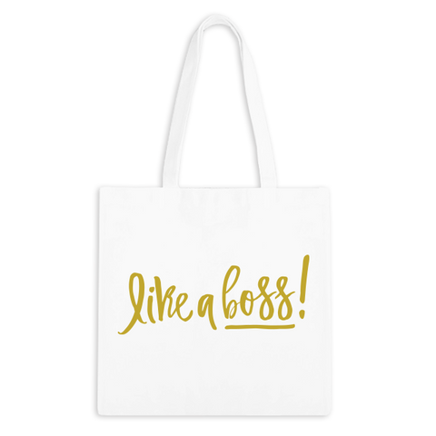 Like A Boss! Zippered Tote Bag - 3pk