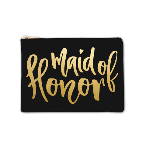 Cosmetic Bag - Maid of Honor Large Script 6pk