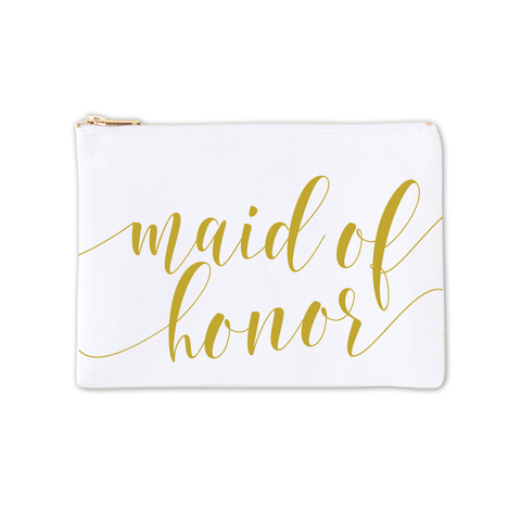 Cosmetic Bag - Maid of Honor Fancy Script 3pk