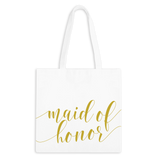 Maid of Honor Fancy Script Zippered Tote Bag - 1pk