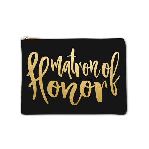 Cosmetic Bag - Matron of Honor Large Script 6pk